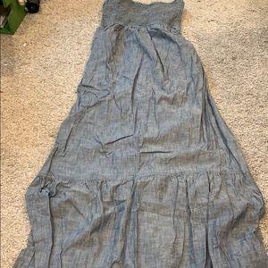 Denim Strapless Dress